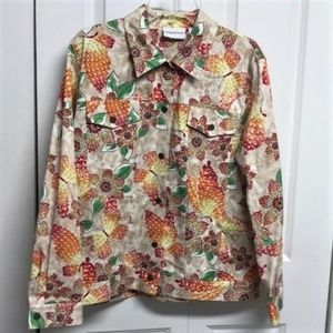 Alfred Dunner Jacket Size 14 Butterfly Print
